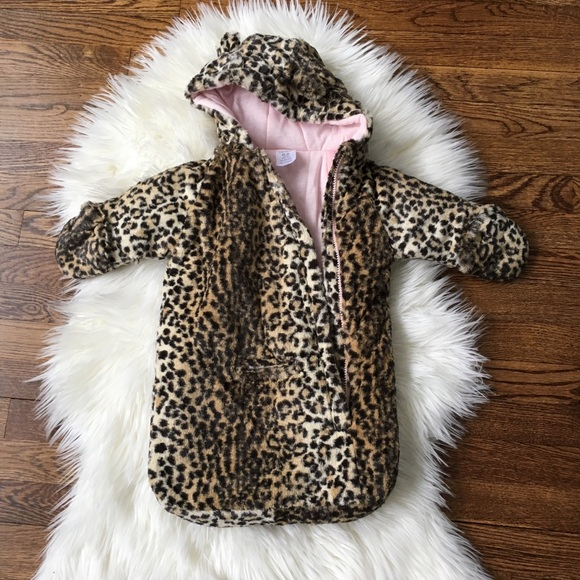 a79cf3903 Carter's Jackets & Coats | Carters Baby Girl Leopard Pram Suit 06 ...